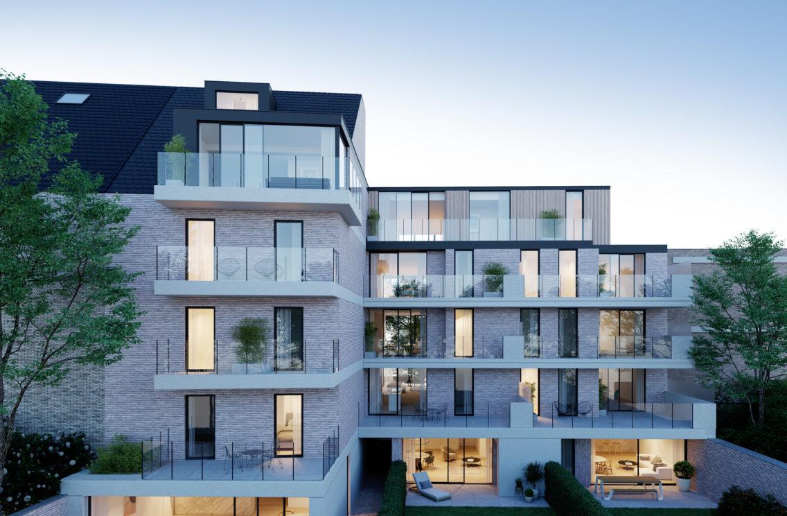 2002 Building4 Blkenberghe 04 03 2020 View02 Nacht | Residentie De Oude Dekenij